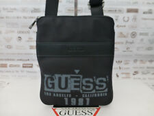 GUESS Flat Crossbody Bag U65 NASHVILLE Small Slim Case Black Body Bags BNWT R£45