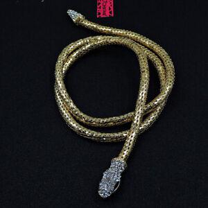 Betsey Johnson Fashion Jewelry Vivid Snake Crystal Choker Necklace