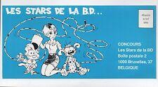 Flyer Concours Les Stars de la BD. Marsupilami, Natacha.... réf. 75/20
