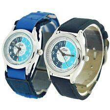 Relda Time Teacher Watch Easy Fasten Boy Girl Childrens Christmas Gift for Kids Set of 2 - Blue Buckle & Velcro