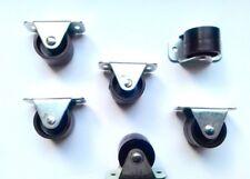 11 X  Rigid Fixed Wheels Casters 30mm Furniture Beds Boxes Mattresses Plastic