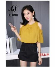 Open SHoulder Blouse (MUSTARD)