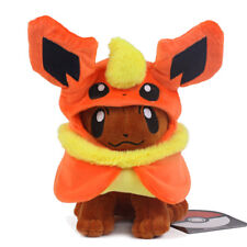 """Pokemon Eevee Poncho Flareon Booster Plush Doll Figure Collectible Toy 7"""" US New"""