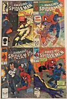 AMAZING SPIDER-MAN#256-349 FN/VF LOT (4 BOOKS) MARVEL COMICS
