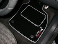 Black/Grey Sport Edition Car Mats To Fit BMW Mini Coupe (2011-2015) + Logos