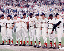 1967 BOSTON RED SOX WORLD SERIES TEAM STARTING LINEUP FENWAY PARK 8x10 PHOTO