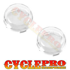 2 Clear Turn Signal Lenses Kit for 2000-2016 Harley Bullet Dome Style Blinker