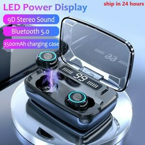 M11 TWS LED Bluetooth Wireless Earphones Touch Control Sport Noise Cancelling