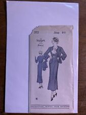 Vintage Nra 1930s Sewing Pattern New York 372 Sz 40 Volup