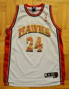 Atlanta Hawks, NBA Jersey by Reebok, Mens Medium, #24 Williams, Sewn