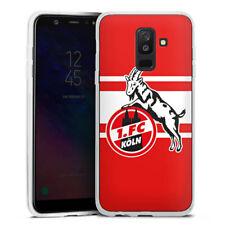 Samsung Galaxy A6 Plus Silikon Hülle Case - Red white Stripes 1.FC