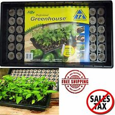 Seed Starting Kit Starter Tray Plant Labels Greenhouse Propagation Garden Pellet