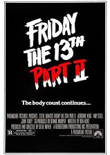 Friday the 13th Part 2 - A4 Laminated Mini Movie Poster