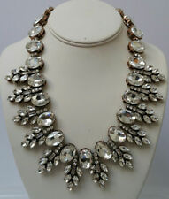 J Crew Crystal Leaves Necklace