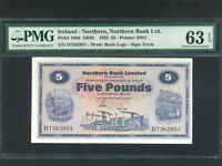 Northern Ireland:P-188d,5 Pounds,1982 * Northern Bank * PMG Ch. UNC 63 EPQ *