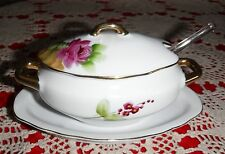 LEFTON CHINA SUGAR OR JELLY JAM BOWL WITH LID,& GLASS SPOON  & FREE SHIPPING