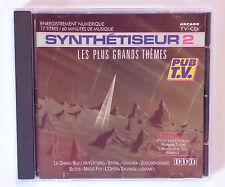CD ALBUM / SYNTHETISEUR 2 - LES PLUS GRANDS THEMES / PUB TV ARCADE