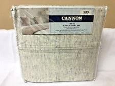 Cannon Twin 3 Piece Sheet Set Melange Pattern Grey 100% Cotton