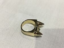 House of Harlow 1960 New & Genuine 14 KT Gold Plated Stud Ring Size 7 With Logo