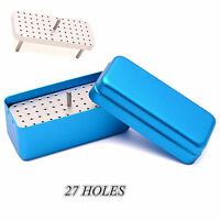A++++ 72 Holes Autoclave Sterilizer Case Dental Aluminium Endo Files Holder Box