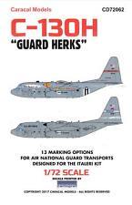"Caracal Decals 1/72 LOCKHEED C-130H ""GUARD HERKS"" Air National Guard Hercules"