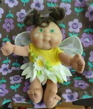 """RARE 1995 mini CPK Mattel Cuties Daisy Angel Fairy doll brown hair blue eyes 9"""""""