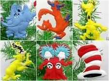 Dr. Seuss Christmas Ornament 6 Piece Set **BRAND NEW** Sneetch, Cat in the Hat