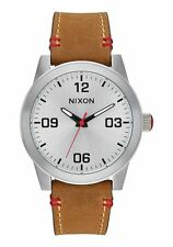 **BRAND NEW** NIXON WATCH THE G.I. LEATHER SADDLE A933747 NEW IN BOX!