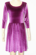 Party 3/4 Sleeve Velvet Dresses for Women