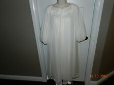 Vtg. Ivory Chiffon Peignoir Nightgown Robe Set Gossard Artemis M 34 Bridal M