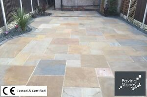 RIPPON BUFF CLEARANCE 19.5m2 Budget Patio Pack Indian sandstone paving slabs