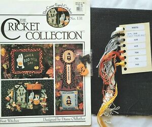 The Cricket Collection ~ BEST WITCHES ~ Cross Stitch Kit w/Tula, buttons, DMC
