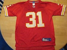 NFL EQUIPMENT KANSAS CITY CHIEFS HOLMES #31 BOYS REEBOK RED JERSEY LARGE 14-16 L