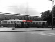 PHOTO  BELGIUM TRAMS 1959 CHARLEROI SUD SNCV PCC TRAM  NO 10396 AND SS 10275 AND