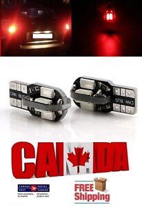 2PCS 8SMD 3W Red T10 194 168 LED No Error Canbus Map Dome Brake Light Bulb