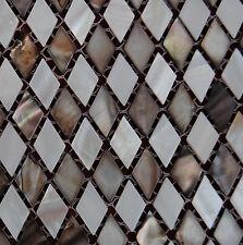 River Bed Nature Pearl Shell Mosaic  Tiles Mixed Diamond  Shaped  Full Sheet