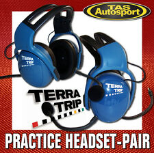 TERRAPHONE Practice Headsets - PAIR Australian Warranty Race Rally