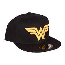 OFFICIAL DC COMICS : WONDER WOMAN SYMBOL BLACK SNAPBACK CAP (BRAND NEW)