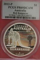 2012 P PR 69 Red Kangaroo Silver 1 Dollar Australia 1 Ounce PCGS Graded OCE 33