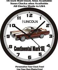 1971 LINCOLN CONTINENTAL MARK III WALL CLOCK-FREE USA SHIP!
