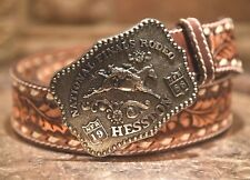 LEATHER BELT FRED FELLOWS 4TH ANNIVERSAY SERIES TOP GRAIN HAND LACED BROWN 34