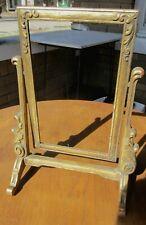 "Vtg. Art Deco Gilded Wood 10""x 6"" Swinging Picture Frame ~Elegant!~"