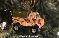Custom 1/64th Scale Mercedes Benz UNIMOG Military Truck Jeep Christmas Ornament