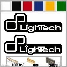 coppia adesivi sticker LIGHTECH prespaziato,auto,moto,casco 16cm