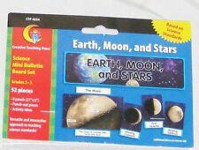 Science Ed Earth Moon & Stars Mini Bulletin Board Set Poster Sign - 52 Pieces