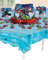 Avengers 'Assemble' Marvel Table Decorating Kit AND Table Cover Party Supplies