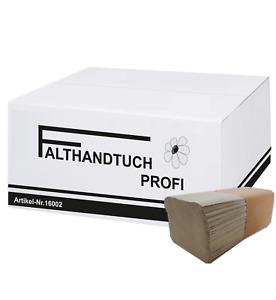 5000/10000 Stk Papierhandtücher Profi Einweghandtücher 1 lagig Recycling 25x23cm