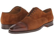 Magnanni Men's Tan Leather/Suede Lace-up Oxfords , US 11