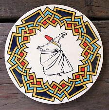 Turkish ceramic trivet ROUND- traditional Ottoman designs,16cm diameter #16