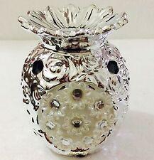 Silver Mille Metallic Pineapple Oil Burner Boxed Ideal Gift UK SELLER SL
